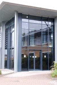 Curtain Walling - British Gypsum Reception