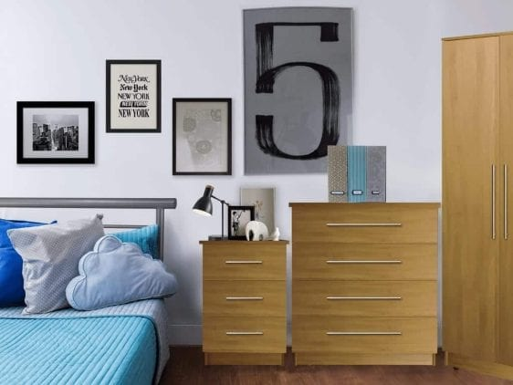 Sterling bedroom set oak