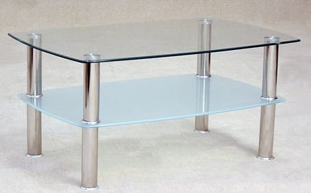 Togo Clear Glass Coffee Table