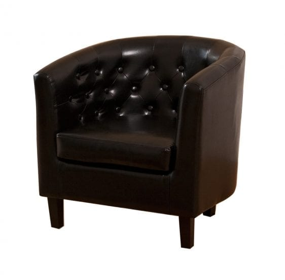 Leatherette Studded Tub Chair