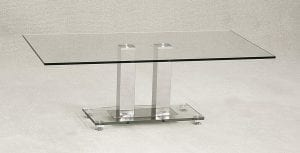 Ankara Coffee Table Glass & Chrome