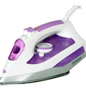 Igenix IG3121 2000W Steam Iron – White/Purple
