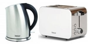 Kettle & Toaster Set In Chrome