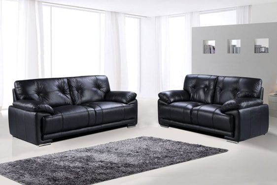 Plaza Leather aire sofa
