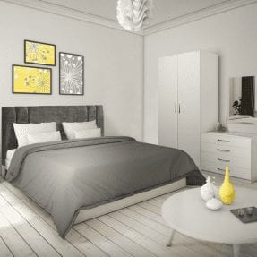 Lisbon White Bedroom Set