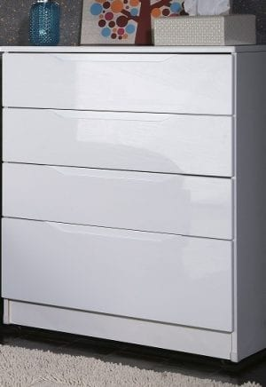 Genoa High Gloss White Chest