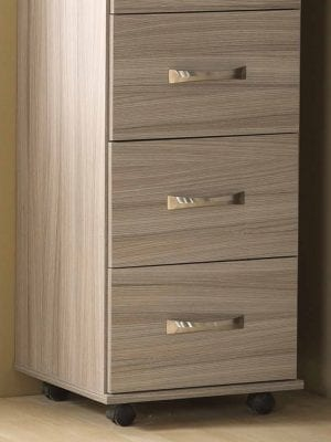 Solo Plus Grey 3 Drawer Bedside