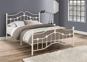 Cream Canterbury Bed