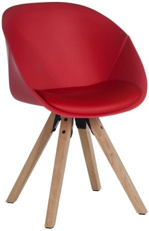 Red Padded Tub Chair