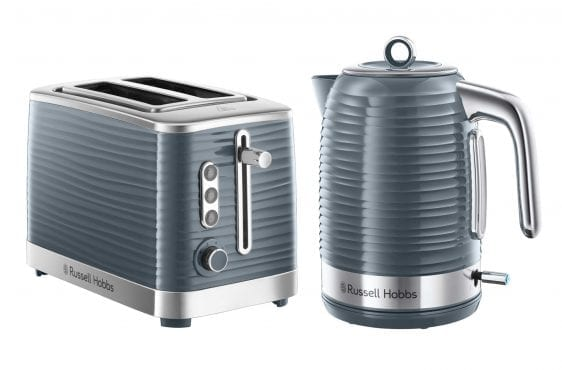 Inspire Grey Kettle & Toaster Set