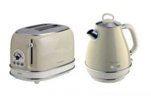 Beige Kettle & Toaster Set