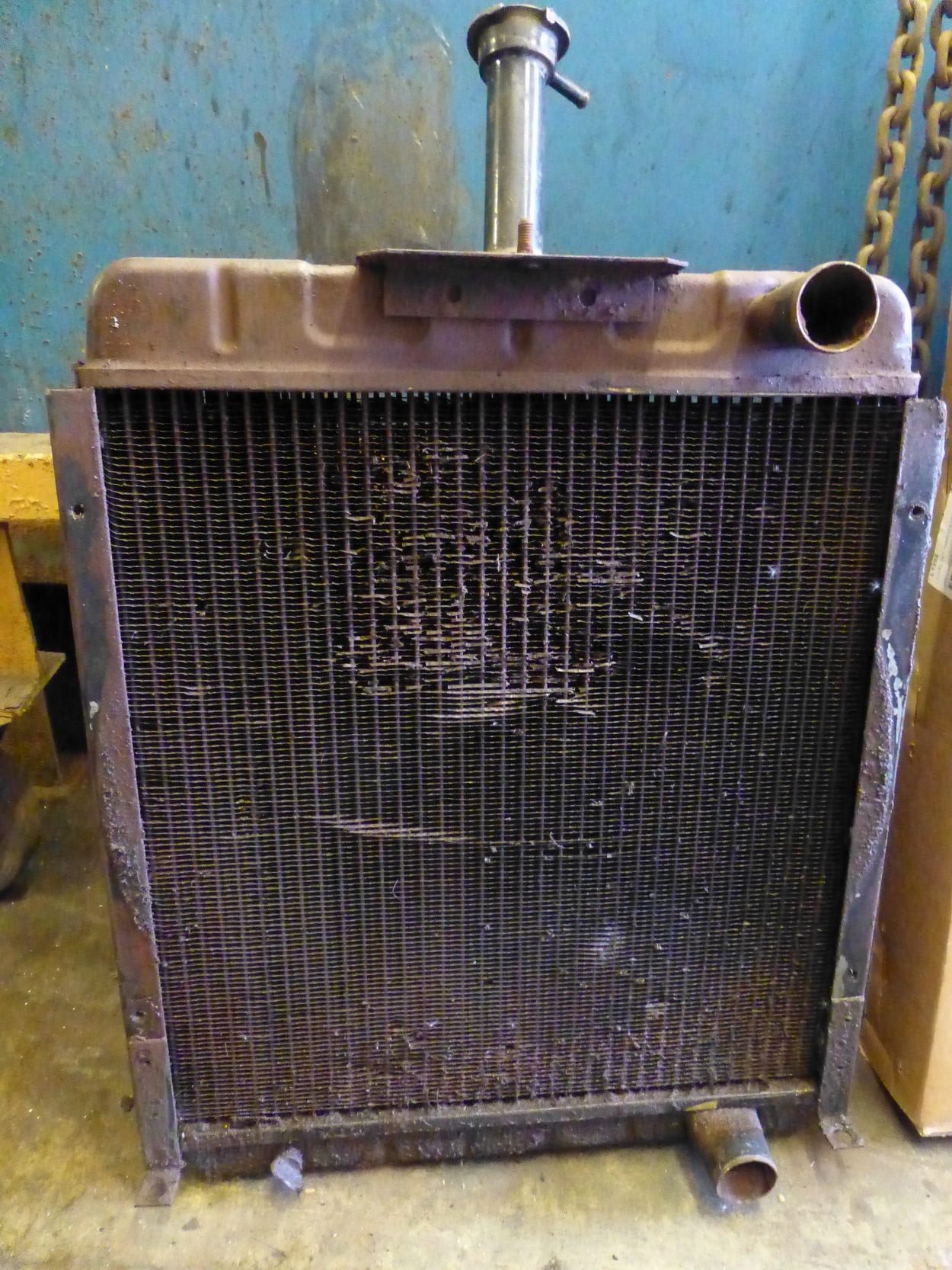 International Tractor Radiator in Need of a New Core Helston Cornwall