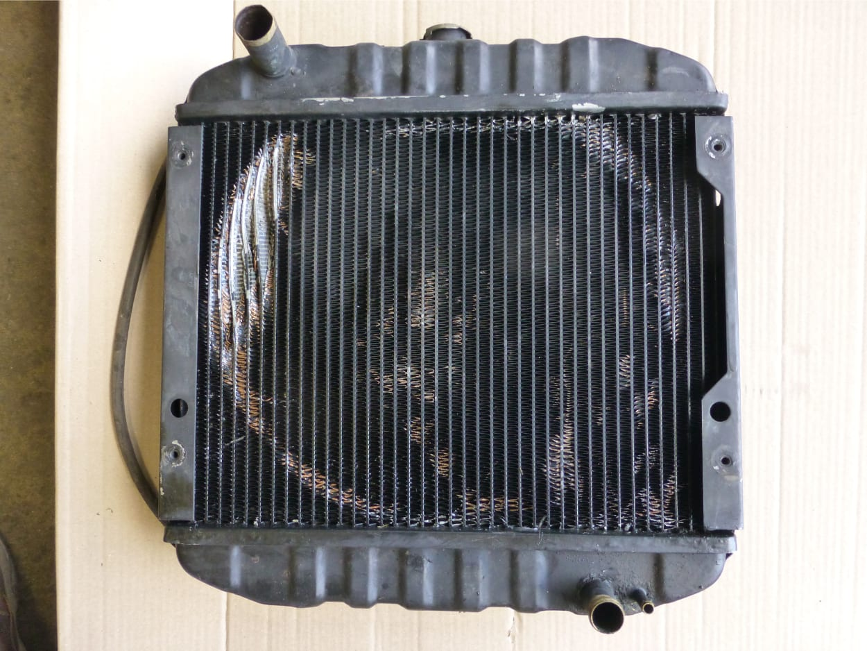 Iseki Mini Tractor Radiator in Need of New Core Paignton Devon