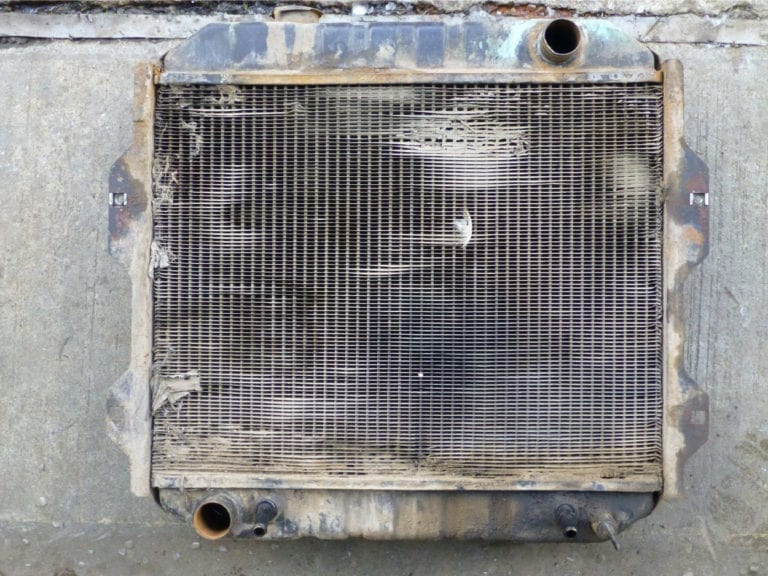 Nissan Forklift Radiator in Need of Attention St Just Cornwall