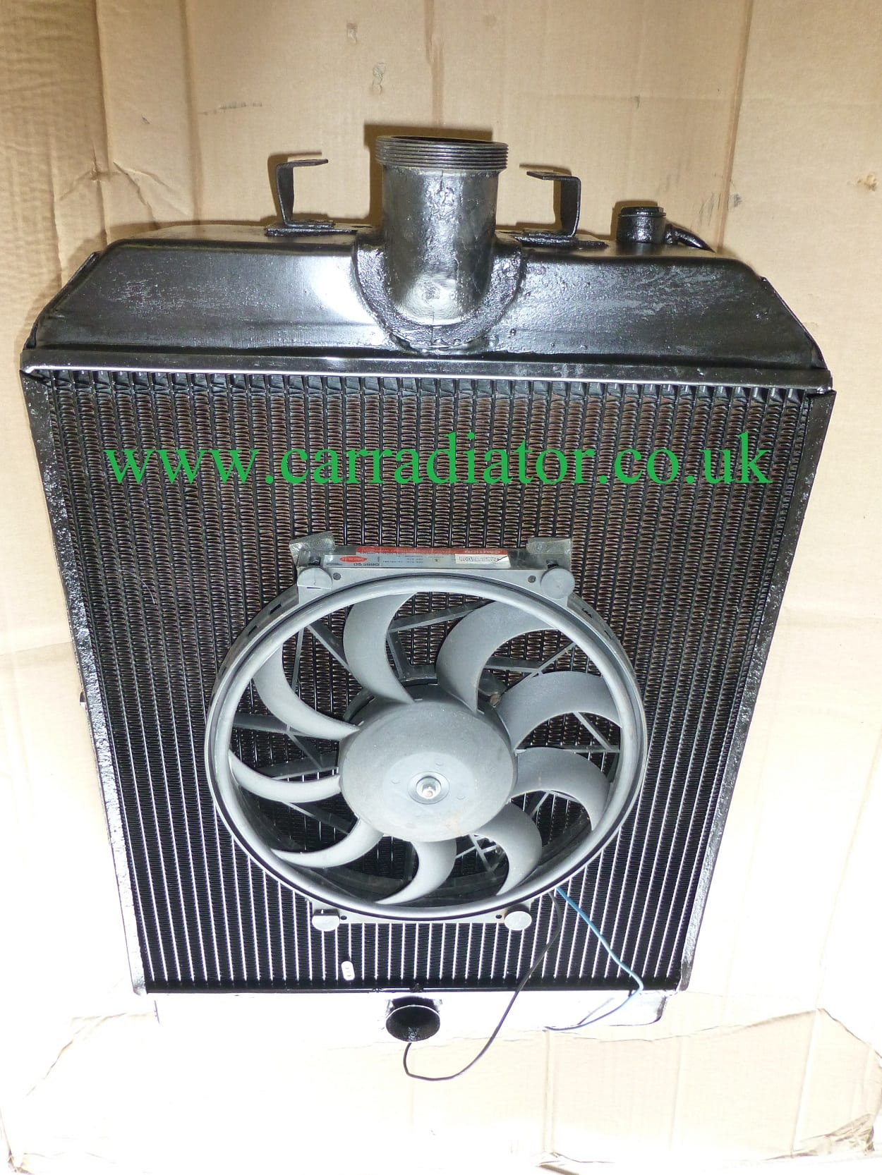 Alvis TA21 Drophead Coupe 1951 Radiator Recored with Tubes for Electric Fan 2