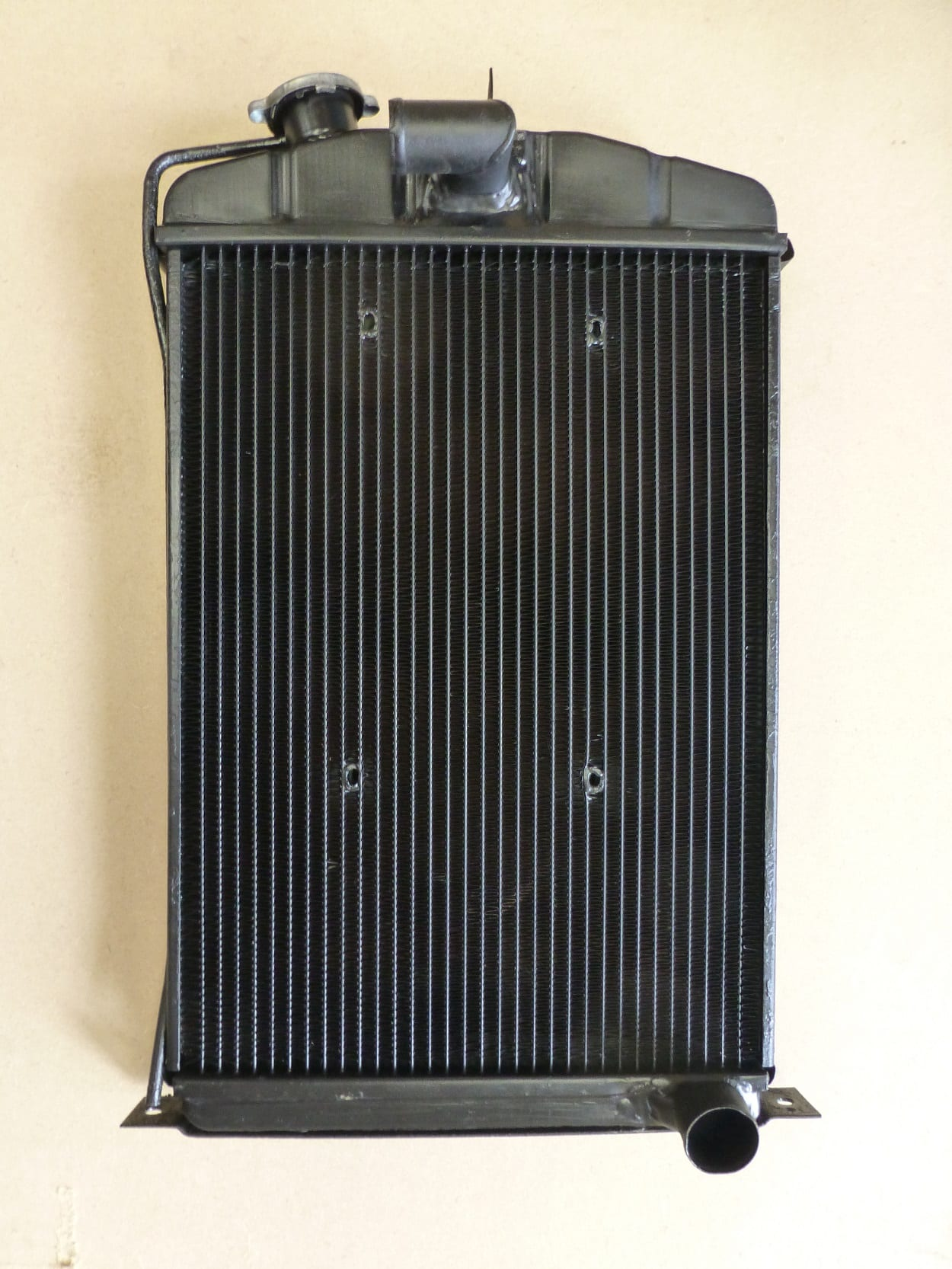 Austin 7 Radiator Recored with tubes through core for electric fan