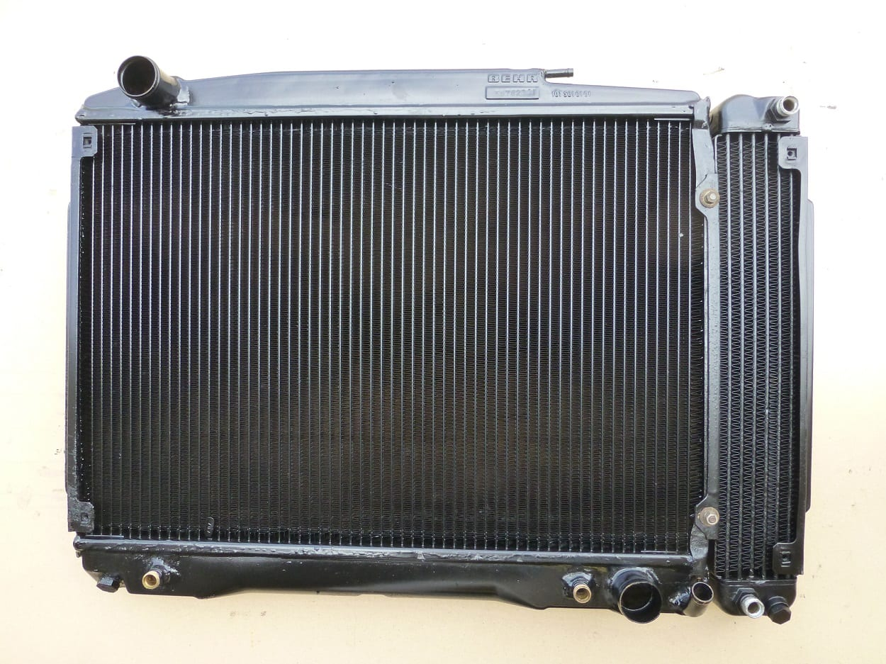 Mercedes 350SL Radiator Recored and Oil Cooler Repaired Newquay Cornwall