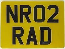 Number Plate Trailer Square