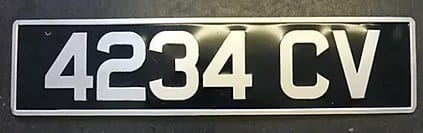 Pre 1963 Pressed Black and Silver Number