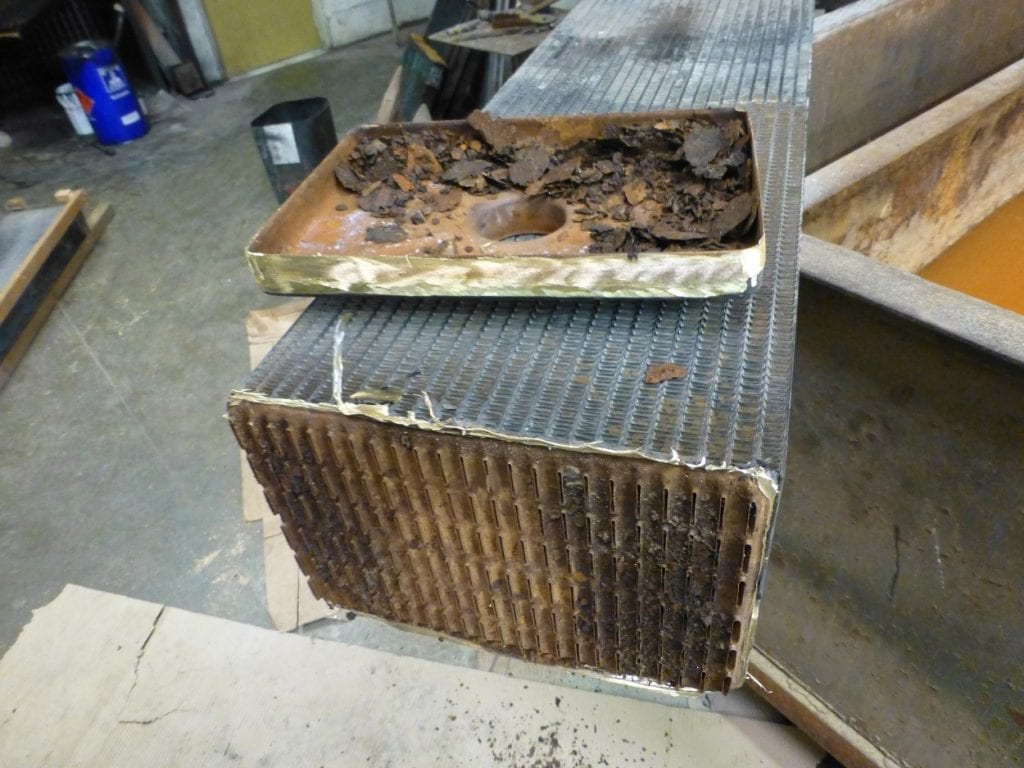 CAT 770 Dumper Truck Radiator Section Being Repaired Cornwall