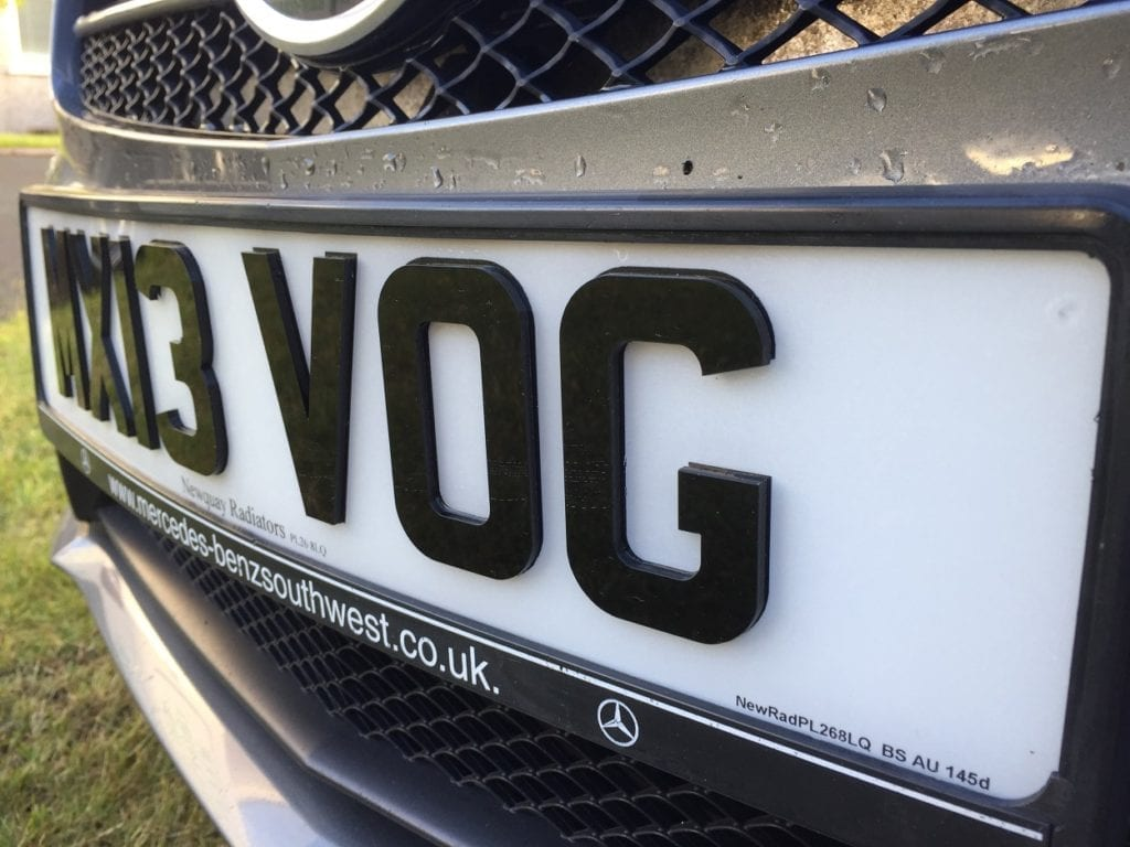 4D Number Plate White