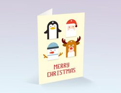 Yellow Christmas Cards