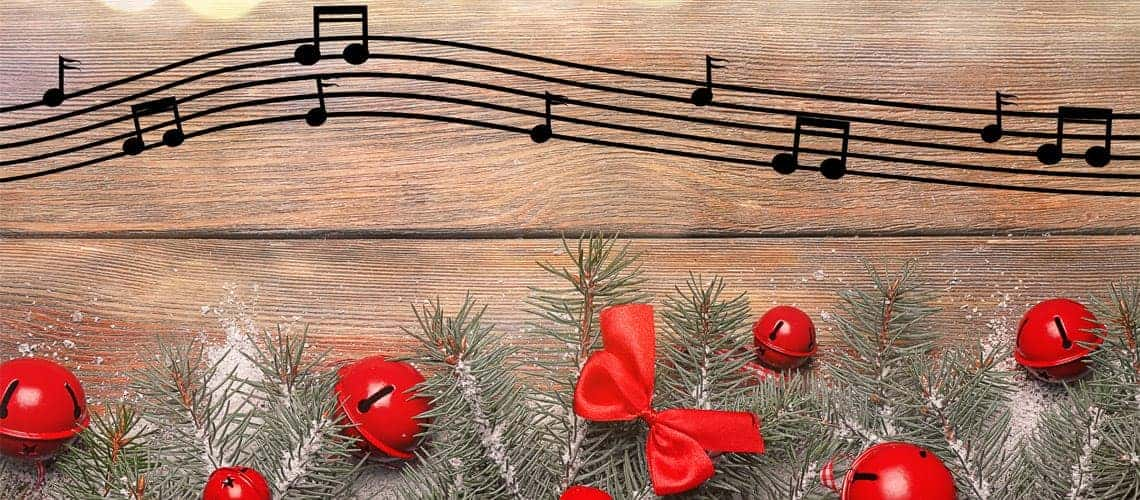Christmas musical notes