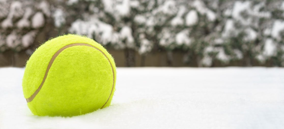 Tennis and snow